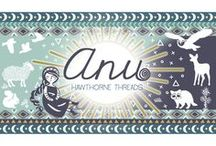 Anu / Inspiration for our fabric collection Anu, featuring Celtic motifs, trees, sheep and other wildlife, perfect for Fall sewing.