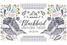 Blackbird / Told in two color stories that can easily work separately or in harmony, Blackbird sings a lyrical song that balances sweetness and sophistication in equal measure, making this range one moms and kids alike can love. sewing. birds. DIY. birdhouses. floral. fabric. gardens