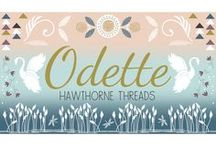 Odette / Odette is a fabric collection by Hawthorne Threads inspired by the ballet Swan Lake. Swans dance on the water creating a magical world sure to delight.