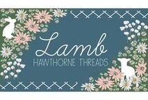 Lamb / This sweet collection celebrates spring and fresh new beginnings.  Featuring soft lambs and friendly bunnies, this fabric will be particularly lovely for baby nurseries, children's apparel and accessories, and of course, Easter Dresses!