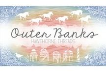 Outer Banks / A fabric collection by Hawthorne Threads inspired by the Outer Banks, a barrier island beach along North Carolina's coast where salty seas meet golden, windswept beaches, made all the by more wild by the horses that roam free there.