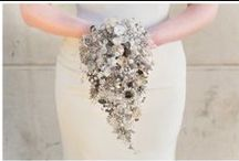 Wedding | Debbie Carlisle Bouquets Designs / Hand made bouquets using a combination of gems, crystals, vintage brooches
