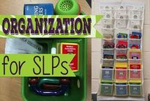 Organization Ideas / Organization ideas for SLPs from @SublimeSpeech. Board compiled by Danielle Reed, M.S., CCC-SLP
