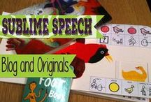 Sublime Speech / Sublime Speech - Blog posts, ideas, materials, and more for Speech Therapy!  Authored by Danielle Reed, M.S., CCC-SLP