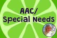 AAC/Special Needs / AAC/Special needs resources, materials, and information.  Board compiled by Danielle Reed, M.S., CCC-SLP