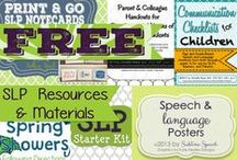 Free SLP Resources/Materials / Free SLP resources and materials for you!  Board compiled by Danielle Reed, M.S., CCC-SLP