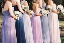 Bridesmaid dresses / Different ideas and colours.