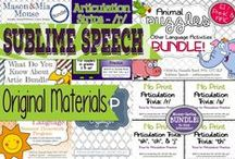 Sublime Speech Original Materials / Materials created by Sublime Speech - Authored by Danielle Reed, M.S., CCC-SLP
