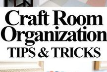 """Craft Space Hacks / """"She layeth her hands to the spindle, and her hands hold the distaff. Give her of the fruit of her hands; and let her works praise her in the gates."""" ~Proverbs 31:19 & 31~"""