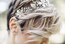 Wedding | Short hair bridal styles | Styling / Short hair brides - ideas for different ways to style and accessorise short hair, pixie cuts and bobs for a perfect bridal look on your wedding day.