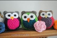 Crochet Owls / Some are super cute. Some are...well, you'll see. :) / by Denver Whimsy Crochet | Delight Iverson