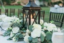 Alternate Centerpieces / Centerpieces with minimal florals and candles