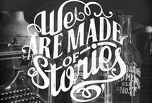 Lettering and Typography / Words & phrases designed with artistic intention.