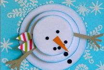 Christmas and winter crafts / Kids crafts winter, christmas, snowman, snowflakes