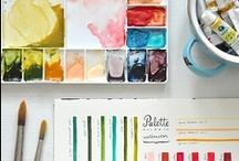 Watercolor & Pencil Drawing