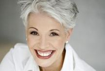 Silver sexy woman / It's not a grey hair, it's platinum highlights