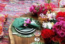 Tableware / Uma mesa com a decoração caprichada encanta o olhar. Inspire-se e deixe a sua assim. ---------- A table with a neat decoration delights the eye. Be inspired and let your well. / by Casa de Valentina