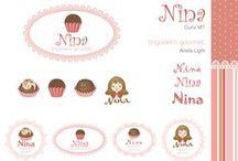 Nina Brigadeiro Gourmet / Criação do logo, cartão de visitas e site para Nina Brigadeiro Gourmet