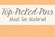 Top Picked Pins / Pins from my #1 bloggers