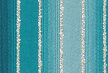 Color Library: Turquoise Fabric / This green-cast blue is said to have a calming effect. Here it works to deepen the richness of cobalt blue and catch the light of citron yellow. Turquoise is often seen in both ancient and modern art as a complement to viridian, cobalt and fuchsia--also a part of the Robert Allen Color Library upholstery fabric line. / by Robert Allen Design