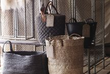 ALSO getting organised / From wicker baskets, jute baskets or bamboo baskets, to vintage apple crates or industrial wire baskets, we love storage and organising!