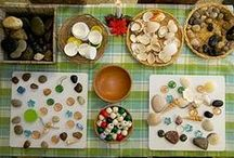 Natural play - loose parts / Ideas for using loose parts for open ended play. Using open ended materials to encourage natural learning, inspire curiosity and encourage creativity.