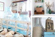 Summer Decorating / Summer Home Decor   Beachy Home Decor   Summer Craft Ideas   Summer Home Tours