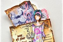 Prima dolls / Prima doll stamps by Julie Nutting