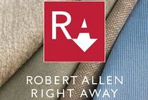 Robert Allen Right Away Fabric Collection / Great Design Delivered in Less Time. Guaranteed! We know your time is at a premium. A single inspiration must become a complete installation in weeks, not months. This is the new normal. To help you speed things along, we've created Robert Allen Right Away, a collection of essential upholstery fabrics—guaranteed to ship within 24 hours > http://ow.ly/DeBKw  / by Robert Allen Design