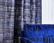 Robert Allen Contract: Quest Drapery / Capturing the intergalactic drama of supernovas, sonic booms and cosmic dust clouds, high-contrast dark and lustrous light hues in fine jacquard constructions create striking drapery fabrics.