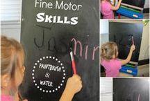 Homeschool:  Handwriting / Tips, tricks and activities to train kids to have good handwriting.