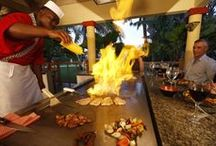 Dining at Jewel Resorts / From the most formal Platinum to the most casual Aquamarina Beach Bar & Grill, where even shoes are optional, there are more than enough dining venues to satisfy every appetite at Jewel Resorts
