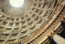 The Pantheon / The magnificent Pantheon was built by the emperor Hadrian around 125 CE, on the site of a former temple by Marcus Agrippa.  A columned portico leads to the round interior, where all eyes are instantly drawn to the oculus in the ceiling -- taking your vision up to the heavens.  Almost 2,000 years old, it still takes my breath away, and it is usually the first place I go every time I go home to Rome.  It is sheer, simple perfection. / by The Spanish Steps Apartment Rome Italy Rome, Italy