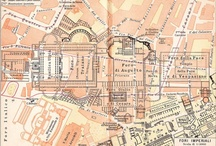 """Maps of Rome and Vatican City / From very early on, their have been maps of Rome -- and its seven hills, the surrounding walls, the many churches and monuments. The twisting route of the Tiber river, the Aurelian Walls, the shape of the historic city, and the """"ring"""" around modern Rome are instantly recognizable to those who have lived in the Eternal City. / by The Spanish Steps Apartment Rome Italy Rome, Italy"""