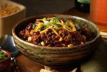 Brrr It's Chili Outside / Chili for a chilly night. I love topping it with sour cream and shredded cheese. Sometimes I use some chili cheese corn chips with it. Yummy! / by Paula Brown