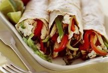 All Wrapped Up / Wrapped in a tortilla, nann or any bread of your choice. Made for people on the go. My son takes a wrap every day (homemade) to school. / by Paula Brown