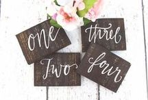 Table Signs / Creative Wedding Signs for Your Table