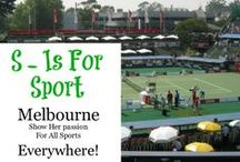 Melbourne - Sport / We love our sport in any shape and size. Football, soccer, rugby, the horses, golf, tennis - you name it. If we can play it we will and here's the proof