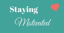 Staying Motivated & Productive / Staying motivated and Productive can be a struggle for all of us, these are some tips or tricks to stay on track. These pins vary from weight lose to family to work and everything in between.