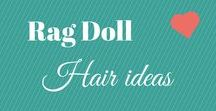 Rag Dolls Hair Ideas / I love making rag dolls, I have an unique way of making their hair but I love to be inspired by others too. Here is the link to my video about how I do my dolls hair. https://analinaragdolls.com/2016/08/02/how-i-sew-on-my-rag-dolls-fabric-hair/