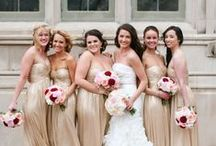 Bridal and Bridesmaids Looks / Fashion.  Bridal Dresses. Bride. Bridesmaids. Women's Dresses. Cocktail Dresses.  Evening Dresses. Prom. #Prom #Dresses #Fashion #Bride #Bridal #Wedding #Bridesmaids