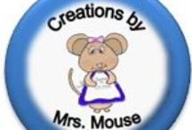 ~~~Mrs Mouse's Creations / These are located at Teachers Pay Teachers (teacherspayteachers.com/Store/Creations-By-Mrs-Mouse) and  Teacher's Notebook (teachersnotebook.com/shop/mmize) and TeachWise (http://www.teachwise.com/sellers/creations-by-mrs-mouse) / by CreationsbyMrsMouse(MMize)