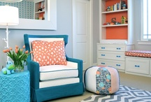 Nursery Delight |Baby B's Orange, Blue, & Grey Nursery