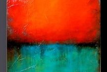***Art 3***  ABSTRACT / I don't really have any preference .... but I know immediately when I like a painting ... so here is everything : vivid colours & monochrome, planes & textures,  lines & brush strokes, minimalism and art erruption, well known artists as well as anonymous .... just feast for the greedy eyes