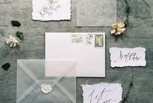 Wedding Inspiration - Stationary / wedding invitation suites, save the dates, ceremony programs, reception menus