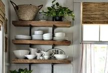 Vintage kitchens / Vintage free standing kitchens are my thing...it mustn't be too classy and must have a little rustic edge