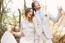 BRIDES and Wedding Inspiration / Real brides wearing Claire Pettibone wedding gowns in their own wedding photos
