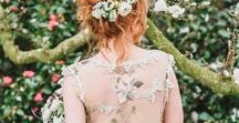 GARDEN WEDDING Style and Bridal Gowns / Claire Pettibone real brides, wedding dresses, and wedding ideas to inspire an outdoor garden wedding.