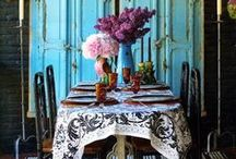 Vintage dining rooms / #Dining rooms should be a place people WANT to congregate. Sharing meals in beautiful rooms creates and promotes friendship & good times