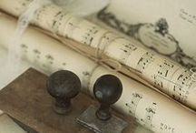 Vintage Music Art & gift tags / My old sheet music fettish and all other pretty #vintage finds